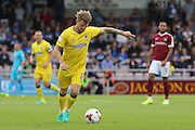 AFC Wimbledon midfielder Jake Reeves (8) in action during the EFL Sky Bet League 1 match between Northampton Town and AFC Wimbledon at Sixfields Stadium, Northampton, England on 20 August 2016. Photo by Stuart Butcher.
