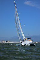 The sailboat participates in 2009 Regatta    of the coast of La Cruz Mexico.