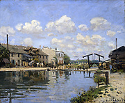 View of the St Martin Canal' 1872:  Alfred Sisley (1839-1899) French painter.  Oil on canvas.