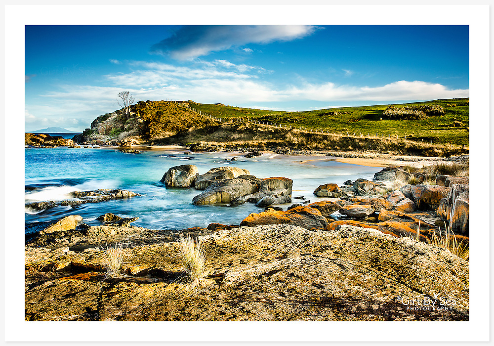Late afternoon light at Spiky Beach, near Swansea [Spiky Beach, Tasmania]<br />