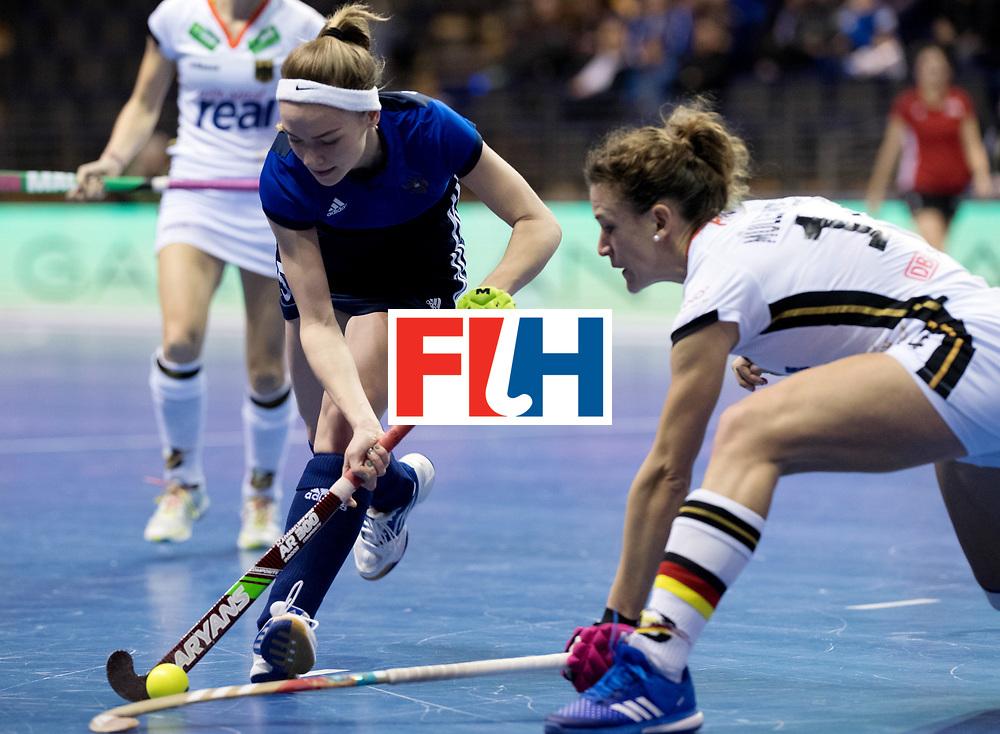BERLIN - Indoor Hockey World Cup<br /> Women: Germany - Russia<br /> foto: KRUGER Rosa (GK).<br /> WORLDSPORTPICS COPYRIGHT FRANK UIJLENBROEK