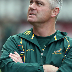 DURBAN, SOUTH AFRICA - JUNE 07:  Springbok coach Heyneke Meyer during the Springboks Captains Run at Growthpoint Kings Park on June 07, 2013 in Durban, South Africa. (Photo by Steve Haag/Gallo Images)