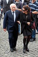 2013/05/07 Roma, funerali di Giulio Andreotti. Nella foto Paolo Cirino Pomicino, Ilaria Cirino Pomicino..Rome, funerals of Giulio Andreotti. In the picturePaolo Cirino Pomicino, Ilaria Cirino Pomicino- © PIERPAOLO SCAVUZZO
