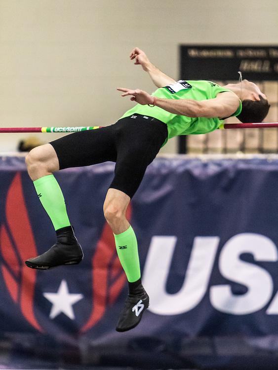 USATF Indoor Track & Field Championships: mens high jump, Garrett Huyler, Zensah