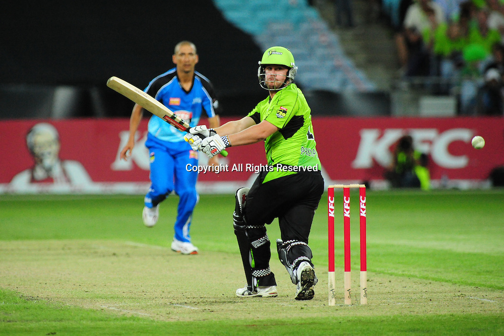 23.12.2011 Sydney, Australia.Thunder batsman Craig Philipson in action during the KFC T20 Big Bash Cricket League game between Sydney Thunder and Adelaide Strikers at ANZ Stadium Sydney.