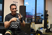 Ken Shamrock trains at Guy Mezger's Combat Gym in Dallas, Texas on January 25, 2016.
