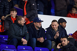 BIRKENHEAD, ENGLAND - Monday, March 13, 2017: Liverpool's manager Jürgen Klopp watches the Under-23's take on Chelsea with goalkeeping coach John Achterberg [L] and first-team development coach Pepijn Lijnders [R] during the Under-23 FA Premier League 2 Division 1 match at Prenton Park. (Pic by David Rawcliffe/Propaganda)