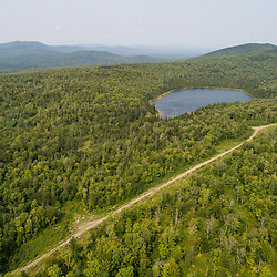 Beattie Pond in North Franklin, Maine. Boundary Mountains region. Site of proposed CMP transmission corridor.