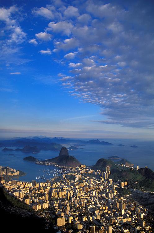 Sugarloaf and Rio from Corcovado,  Rio de Janeiro, Brazil