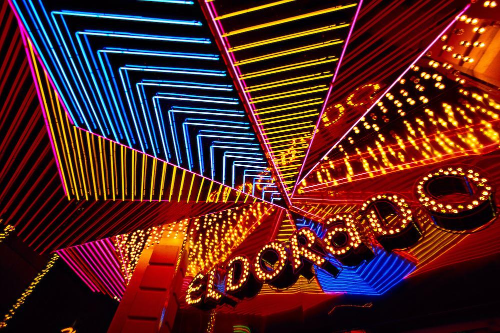 Neon, Eldorado Hotel and Casino, Downtown, Reno, Nevada USA
