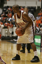 Virginia Cavaliers guard J.R. Reynolds (2)..The Virginia Cavaliers fell to the Florida State Seminoles 87-82 in overtime at University Hall in Charlottesville, VA on January 11, 2006.