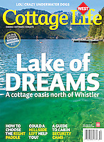 Cover of Cottage Life Magazine, taken on assignment at Anderson Lake, BC.