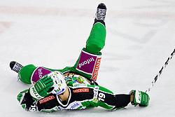 Ziga Pance (HDD Tilia Olimpija, #19) during ice-hockey match between HDD Tilia Olimpija and EHC Liwest Black Wings Linz at second match in Semifinal  of EBEL league, on March 8, 2012 at Hala Tivoli, Ljubljana, Slovenia. (Photo By Matic Klansek Velej / Sportida)