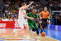 Real Madrid's Jaycee Carroll and Unicaja Malaga's Jamar Smith during semi finals of playoff Liga Endesa match between Real Madrid and Unicaja Malaga at Wizink Center in Madrid, May 31, 2017. Spain.<br /> (ALTERPHOTOS/BorjaB.Hojas)