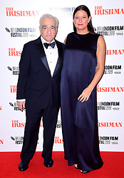 Martin Scorsese and Emma Tillinger Roskoff attending the Closing Gala and International premiere of The Irishman, held as part of the BFI London Film Festival 2019, London.