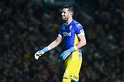 Leeds United goalkeeper Francisco Casilla (13) reacts during the EFL Sky Bet Championship match between Leeds United and West Bromwich Albion at Elland Road, Leeds, England on 1 October 2019.
