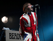 Liam Gallagher of Beady Eye performs live on stage at the Isle of Wight Festival 2011 on June 12, 2011.