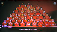 Rugby Union - 2017 British & Irish Lions Tour to New Zealand - Squad & Captain Announcement Press Conference<br /> <br /> Lions Squad announced on the big screen, at the Hilton Syon Park, London.<br /> <br /> COLORSPORT/ANDREW COWIE