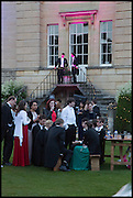 ON STEPS; MICHAEL BAKER; ADAM GILBERTSON, The Tercentenary Ball, Worcester College. Oxford. 27 June 2014