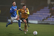 Crewe Alexandra midfielder Oliver Finney in action during the EFL Sky Bet League 2 match between Macclesfield Town and Crewe Alexandra at Moss Rose, Macclesfield, United Kingdom on 21 January 2020.