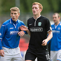 St Johnstone v Hibs...14.09.13      SPFL<br /> David Wotherspoon and Liam Craig<br /> Picture by Graeme Hart.<br /> Copyright Perthshire Picture Agency<br /> Tel: 01738 623350  Mobile: 07990 594431