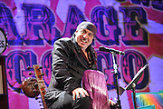 In this photo provided by Hard Rock Cafe, Steven Van Zandt celebrates the 500th episode of Little Steven's Underground Garage radio show, Friday, Oct. 21, 2011, at a live show at Hard Rock Cafe in New York.  (AP Photo/Hard Rock Cafe, Diane Bondareff)