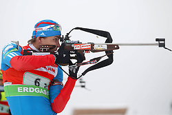 11.12.2011, Biathlonzentrum, Hochfilzen, AUT, E.ON IBU Weltcup, 2. Biathlon, Hochfilzen, Staffel Herren, im Bild Makoveev Andrei (Team Russia) // during Team Relay E.ON IBU World Cup 2th Biathlon, Hochfilzen, Austria on 2011/12/11. EXPA Pictures © 2011. EXPA Pictures © 2011, PhotoCredit: EXPA/ nph/ Straubmeier..***** ATTENTION - OUT OF GER, CRO *****