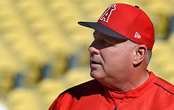 June 27, 2017 - Los Angeles, California, U.S. - Los Angeles Angels manager Mike Scioscia prior to a Major League baseball game between the Los Angeles Angels and the Los Angeles Dodgers at Dodger Stadium on Tuesday, June 27, 2017 in Los Angeles. (Photo by Keith Birmingham, Pasadena Star-News/SCNG) (Credit Image: © San Gabriel Valley Tribune via ZUMA Wire)