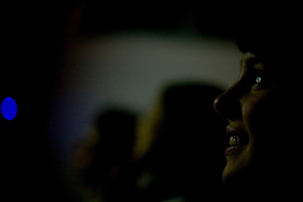 Belo Horizonte_MG, Brasil...Aula de artes do Instituto Efigenia Vidigal. Na foto laboratório multimídia, sala de aula com data-show. ..The Art class of Efigenia Vidigal Institute. In this photo multimedia laboratory, classroom with data-show...Foto: LEO DRUMOND / NITRO