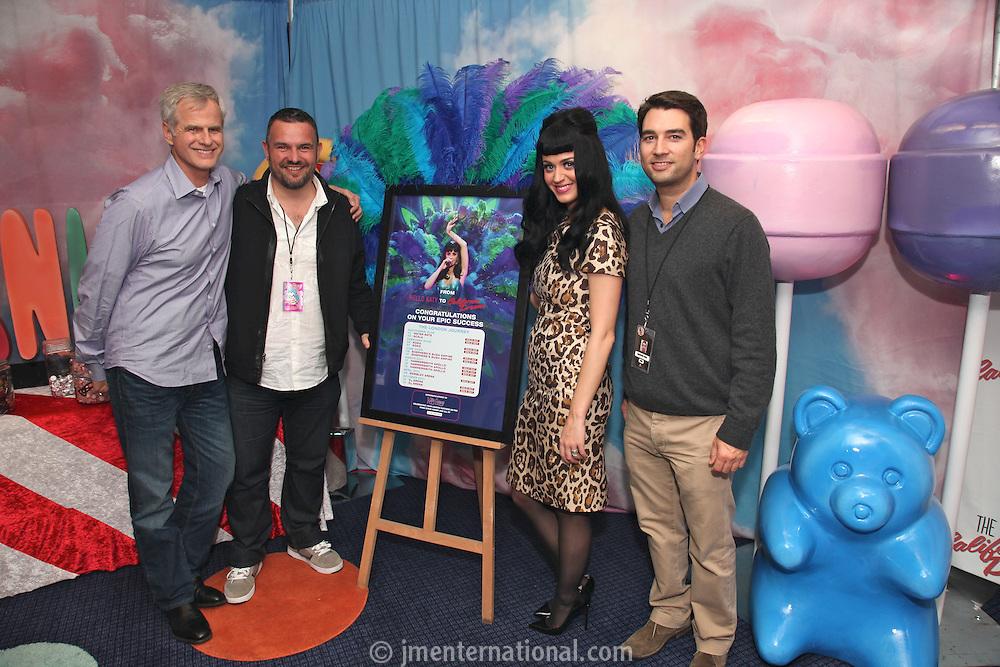 Steve Jensen, Steve Homer, Katy Perry and Bradford Cobb (L-R)