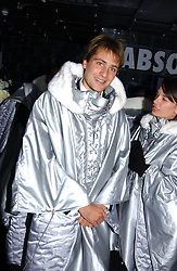 BEN GOLDSMITH at a party to celebrate the opening of the Absolut Icebar London, 134 Heddon Street, London on 29th September 2005.<br />