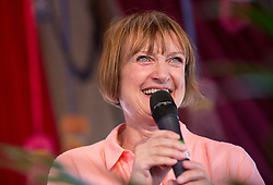 © Licensed to London News Pictures. 19/07/2015. City, UK.  Former Women's Minster and minister in charge of the London 2012 Olympics, Tessa Jowell, who is running  as a Labour candidate for Mayor of London, speaks at the Sunday Papers Live tent in Citadel, a new one-day festival at Victoria Park, east London, created by the award-winning Wilderness Festival and Superfly headlined by Ben Howard and Bombay Bicycle Club. Photo credit: LNP