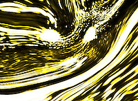 fluid lights. White and yellow colors with many shades on black bacground in a light storm.