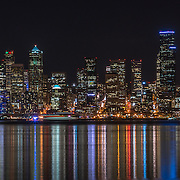 Nighttime view of Seattle from Salty's on Alki 2015. Photo by Alabastro Photography.