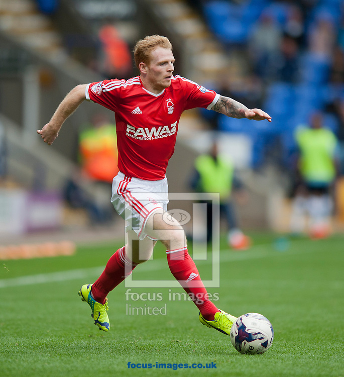 Chris Burke of Nottingham Forest during the Sky Bet Championship match at the Macron Stadium, Bolton<br /> Picture by Russell Hart/Focus Images Ltd 07791 688 420<br /> 16/08/2014