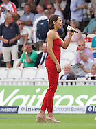 Laura Wright wows Oval crowd as England face Australia in fifth Ashes Test in the 5th Investec Ashes Test Match match at the Kia Oval, London<br /> Picture by Alan Stanford/Focus Images Ltd +44 7915 056117<br /> 21/08/2015