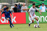 Team USA forward Rafael Jauregul (11) dribbles the ball during a CONCACAF boys under-15 championship soccer game, Monday, Aug. 5, 2019, in Bradenton, Fla. The USA defeated Guatemala  2-0 (Kim Hukari/Image of Sport)