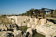 Israel, Maagan Michael, Nahal Taninim - crocodile river national park, The ancient floodgate and field irrigation device January 2008