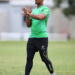 DURBAN, SOUTH AFRICA - MAY 15: Leolin Zas of the Cell C Sharks during the Cell C Sharks training session at Jonsson Kings Park on May 15, 2018 in Durban, South Africa. (Photo by Steve Haag/Gallo Images)