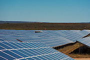 View of solar panels for the Solar Park