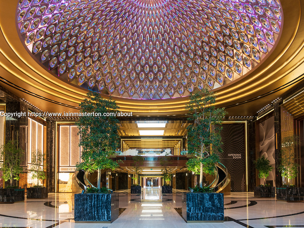 Interior of Prestige luxury area of The Avenues shopping mall in Kuwait City, Kuwait, Middle East