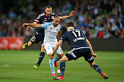 December 17, 2016 - Melbourne, Victoria, Australia - EMMANUEL MUSCAT (2) of Melbourne City controls the ball in the round 11 match of the A-League between Melbourne City and Melbourne Victory at AAMI Park, Melbourne, Australia. Victory won 2-1 (Credit Image: © Sydney Low via ZUMA Wire)