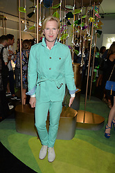 HENRY CONWAY at the opening of L'Eden by Perrier-Jouet held at The Unit, 147 Wardour Street, Soho, London on 15th September 2016.