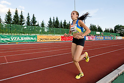Pina Lihteneger Vidmajer of Slovenia during the women's 1500m at athletics meeting Ljubljana Grand Prix 2010 for 5th Memorial Matic Sustersic and Patrik Cvetan on August 29, 2010, in Ljubljana, Slovenia. (Photo by Matic Klansek Velej / Sportida)