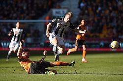 Wolves' captain Danny Batth tackles Watford's Matej Vydra - Photo mandatory by-line: Paul Knight/JMP - Mobile: 07966 386802 - 07/03/2015 - SPORT - Football - Wolverhampton - Molineux Stadium - Wolverhampton Wanderers v Watford - Sky Bet Championship