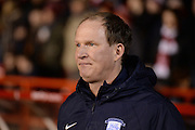 Preston manager Simon Grayson during the Sky Bet Championship match between Nottingham Forest and Preston North End at the City Ground, Nottingham, England on 8 March 2016. Photo by Jon Hobley.