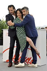 Leonardo Sbaraglia Asier Etxeandia Nora Navas attending the Pain and Glory Photocall during the 72nd Cannes Film Festival, Festival des Palais