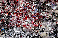 Shredded plastics ready to be recycled, Minh Khai village, Hung Yen Province, Vietnam, Southeast Asia