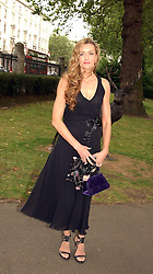 Actress NATASCHA McELHONE at a summer party held at The Natural History Museum entitled 'Evolution'  on 29tth June 2004.