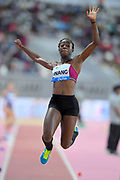 Naa Anang (AUS)  places fourth in the women's long jump at 21-4¾ (6.52m) during the IAAF Doha Diamond League 2019 at Khalifa International Stadium, Friday, May 3, 2019, in Doha, Qatar (Jiro Mochizuki/Image of Sport)